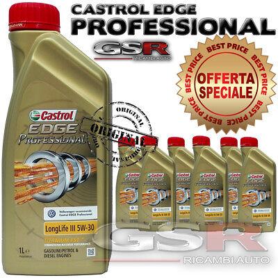 6 LITRI OLIO MOTORE CASTROL EDGE 5W30 long life 3 TITANIUM WV BMW PROFESSIONAL