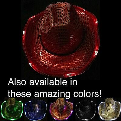 Flashing Light Hat (Light Up Flashing LED Cowboy/Girl)