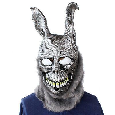 Frank The Bunny Mask (Donnie Darko FRANK the Bunny Rabbit MASK Latex Overhead with Fur Adult)