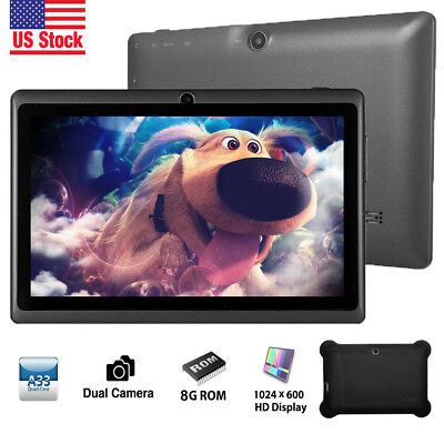 7'' inch HD Screen Quad Core Tablet For Kids Android 4.4 KitKat Dual Camera WiFi
