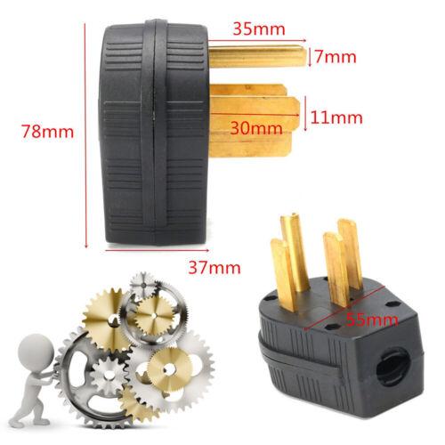 NEMA 14-50P 50A 125/250V Straight Blade Angle Plug For Dryer RV Generator 14-50P