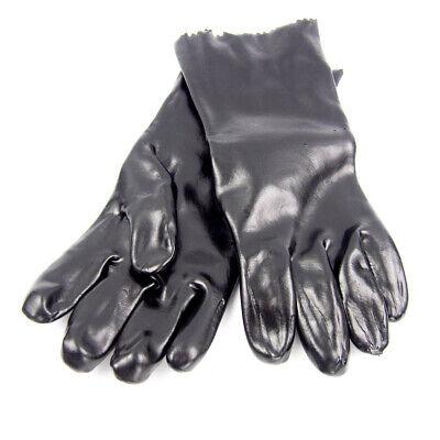 Condor 3ba49 Black Pvc 14 Chemical Resistant Gloves - Large