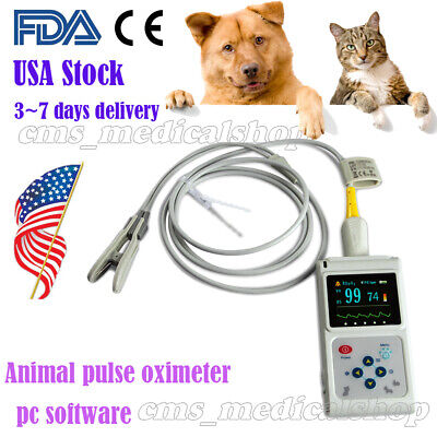 Fda Veterinary Pulse Oximeter Handheld Spo2 Pr Monitor Vet Tongue Probesw