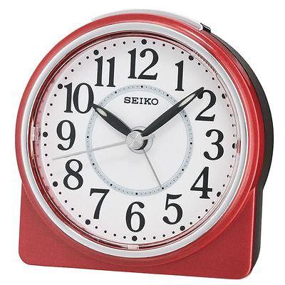 Seiko Beep Alarm Clock with Snooze & Light - Lumibrite - Red