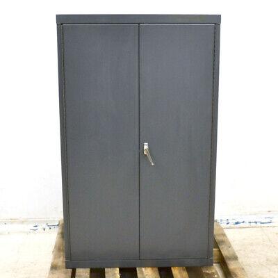 36 X 18 X 60 Gray 2-door 1-latch 2-shelf Steel Upright Storage Cabinet 5ft