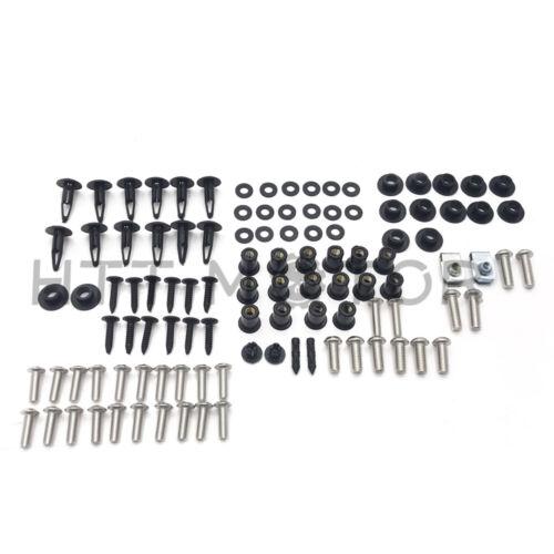 Complete Fairing Bolt Kit Body Screws For Honda CBR954RR 02-03 Stainless Plastic