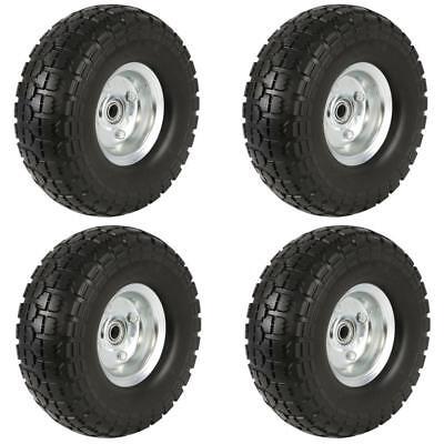 4pcs Garden Sack Truck Trolley Cart Wheel Tire 10