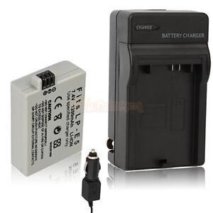 LP-E5 LPE5 Rechargeable Battery+Charger for Canon EOS Rebel T1i XS XSi