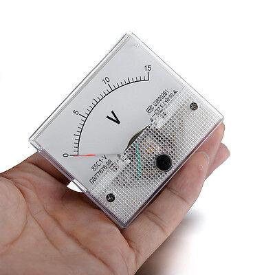 85c1 Dc 0-15v Analog Trimming Voltmeter Volt Panel Meter Pointer Display Gauge