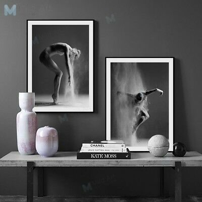 Black White Ballet Girl Posters Nordic Home Decor Wall Art Photo Canvas Painting