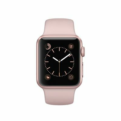 New in Box Apple Watch Series 3 38mm Gold Aluminum Case Pink Sand Sports Band