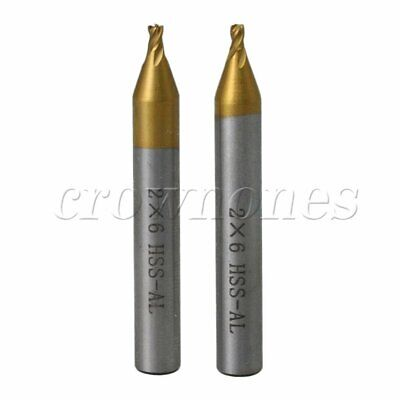 2pcs 2mm End Milling Cutter Drill Bits For Key Cutting Machine Parts