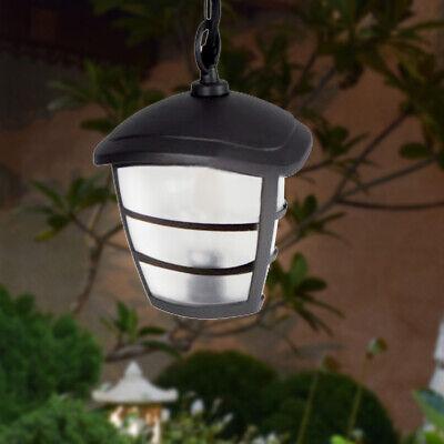Aluminio Cubrir Péndulo Linterna Grafito Iluminación Jardín Terraza Fuera Colgar