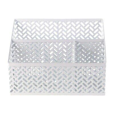 Staples Metal Desk Organizer White Zigzag 26850 1116754
