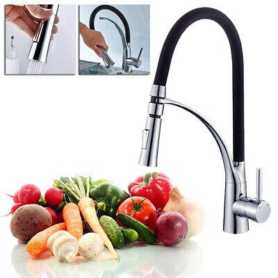 Edelstahl Ausziehbar Küchenarmatur 360° Brause Wasserhahn Bad Spültischarmatur