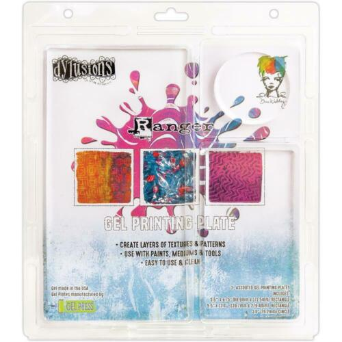 Ranger Dylusions GEL PRINTING PLATE 3 Assorted Sizes - Mixed Media JEP59462