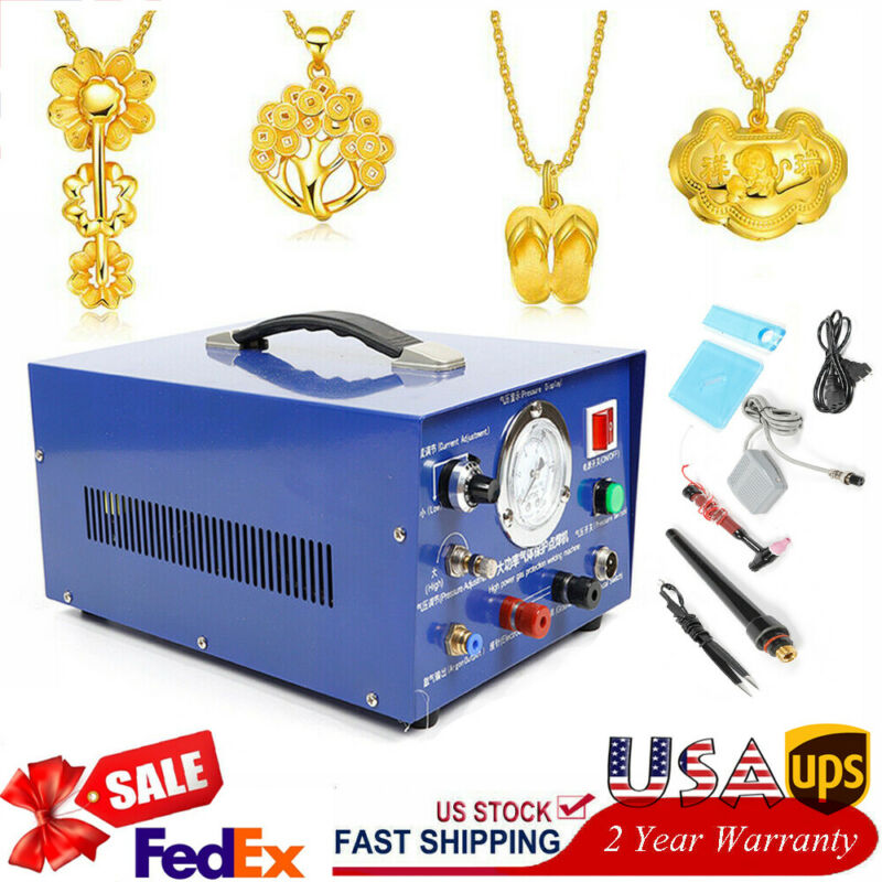 New Argon Pulse Spot Welder AC 110V Gold Silver Jewelry Welding Machine 800W