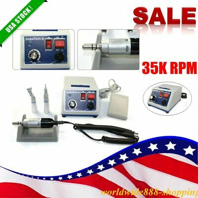 Dental Lab Marathon Micro Motor 35k Rpm N3 Polisher W Handpiece 2.35mm Ac110v