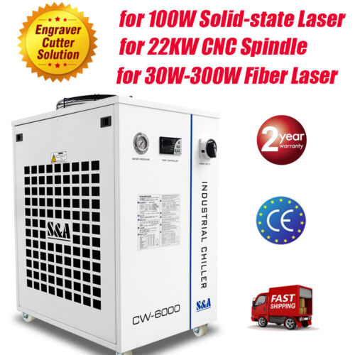 S&A CW-6000DN Water Chiller for Solid-state Laser, CNC Spindle, Fiber Laser