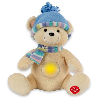 ANSMANN Nachtlicht Tobi Kuscheltier Spieluhr Musik - Bär mit leuchtendem Bauch