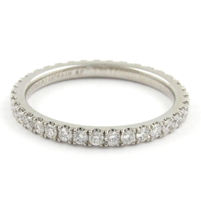 Round Cut Platinum Eternity Diamond Ring 2.50 Carat Dia Certified
