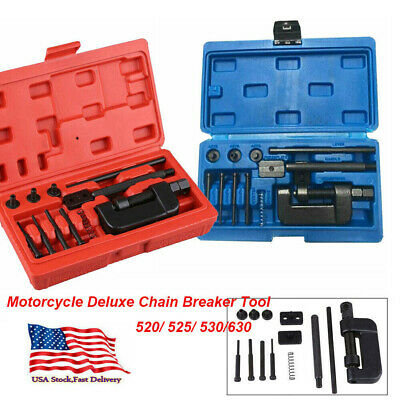 Chain Rivet (Motorcycle Deluxe Chain Breaker Tool Kit Cutter Rivet 520/525/530/630 Pitch)