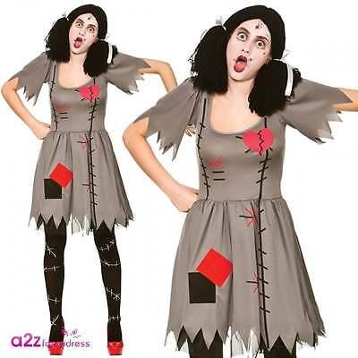 Womens Freaky Voodoo Doll Adult Halloween Horror Zombie Fancy Dress - Freaky Zombie Kostüm