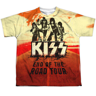 KISS END OF THE ROAD COSTUME Kids Front Print Band Tee Shirt SM-XL BOYS SZ 6-20 - Kiss Kids Costume