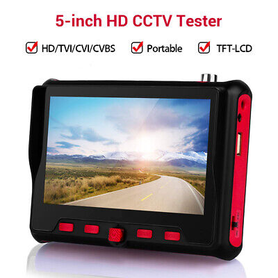"4in1 5"" HD 8MP IPC Camera Tester AHD TVI CVI CVBS Monitor Analog Test PTZ RS485"