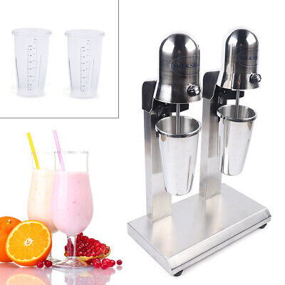 Commercial Milk Shake Machine Electric Milkshake Mixer Drink Mix Blender 2 Head