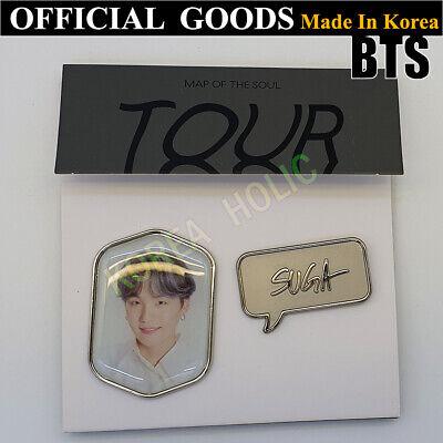 BTS Map Of The Soul Tour Badge Set SUGA OFFICIAL GOODS Bangtan Boys Min Yoon Gi