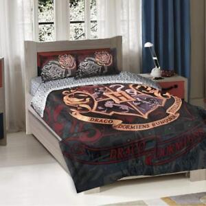 "Harry Potter, ""School Motto"" Twin/Full Comforter with Two Pillow Shams, 72"" x 86"""