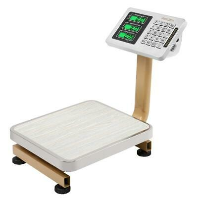 176lbs Digital Platform Scale Weight Shipping Personal Floor Postal Scale Lbkg