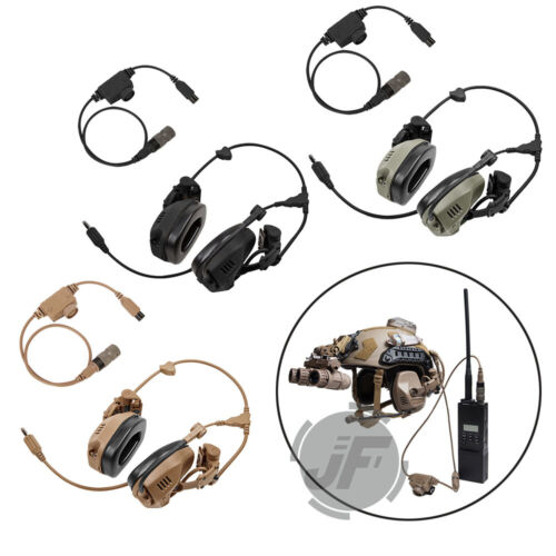 Tactical Headset Rail Attached Noise Reduction Communication or PTT For FCS RAC