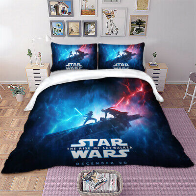 3D Star Wars Duvet Quilt Cover Galaxy Bedding Set Single Double King Pillowcases