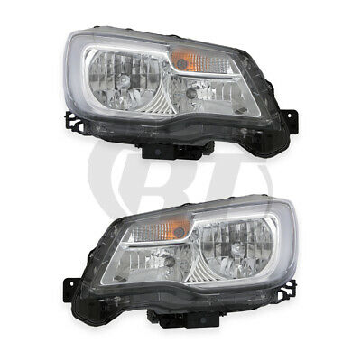 Halogen Headlights Front Lamps for 17-18 Subaru Forester Left & Right Pair Set