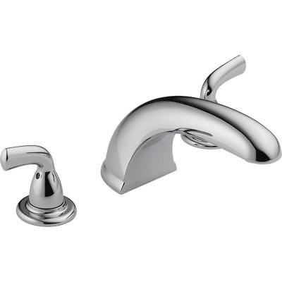 Delta Foundations 2-Handle Deck-Mount Roman Tub Faucet Trim Kit Only in - Foundations Roman Tub Faucet