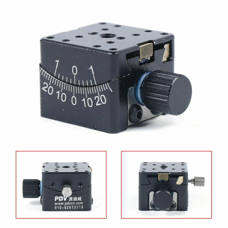 25mm × 25mm PT-SD304 Precise Manual Goniometer Stage Dovetail Platform Anti-rust