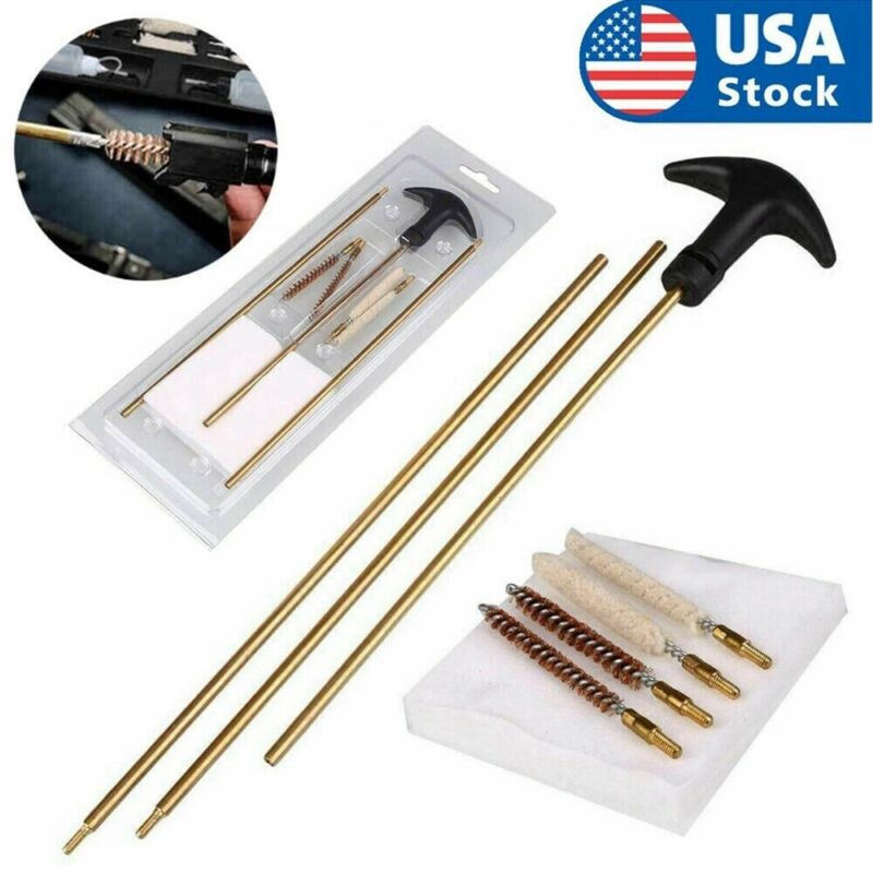 For .177 22 Caliber Rifle Gun Barrel Cleaning Kit with Long Rod Brushes Tool Set