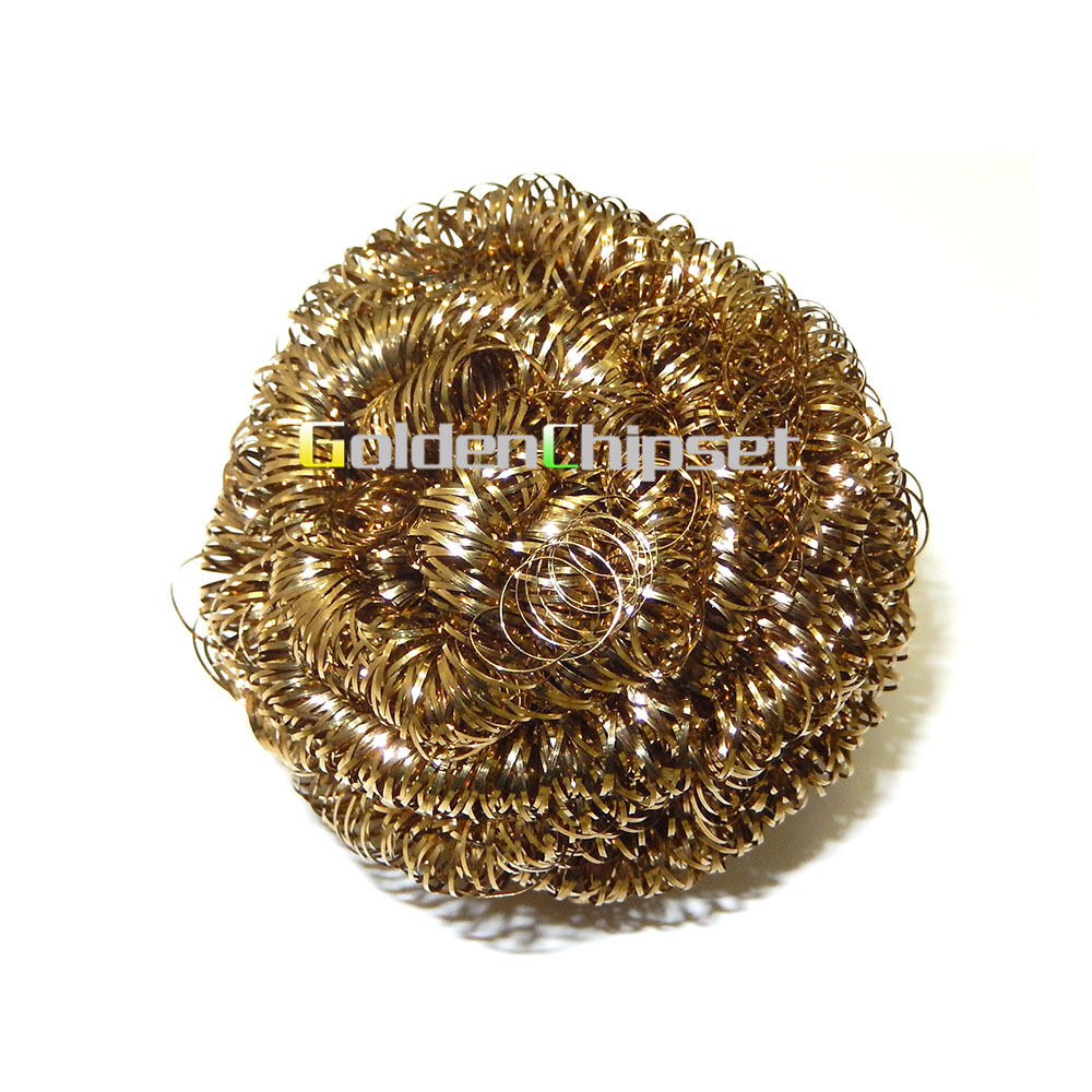Ball Brass Soldering Solder Iron Head Tip Cleaner Steel Welding Cleaning Tool