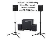 Roalnd CM-220 2.1 SPEAKER MONITOR SYSTEM ELECTRONIC INSTRUMENTS Keyboard, Guitar, Electric Drum Kit