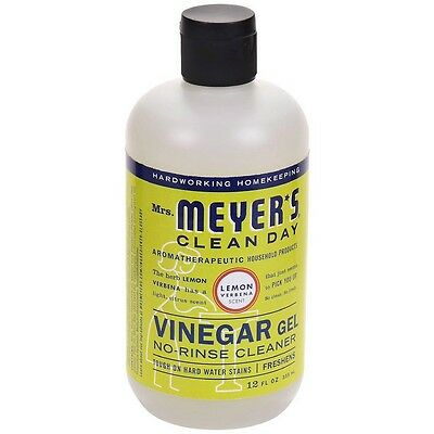 Mrs Meyers Clean Day Vinegar Gel No-Rinse Cleaner, Lemon Verbena 12 oz (9 pack)