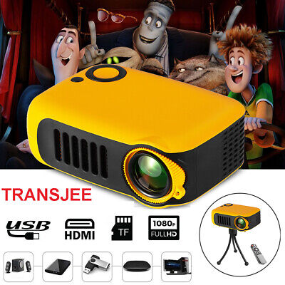 Proiettore Mini Full HD 1080P Videoproiettore USB HDMI Home Cinema Teatro U6V4