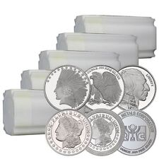 Lot of 100 1 oz New Silver Rounds | In Original Mint Tubes Direct From Mint