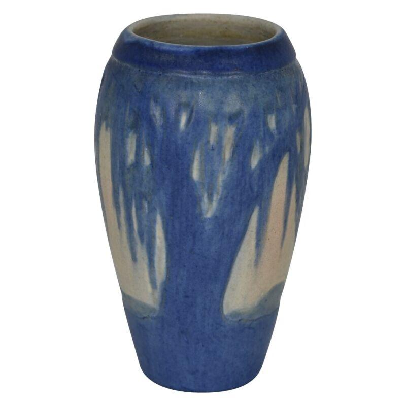 Newcomb College Pottery 1931 Scenic Moss Laden Trees Vase (Irvine)