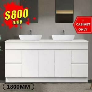 1800mm Bathroom Vanity Cabinet Ceramic Finger Pull Luca *BRAND NEW*