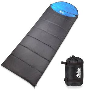 SINGLE CAMPING ENVELOPE SLEEPING BAG BLUE GREY Hope Valley Tea Tree Gully Area Preview