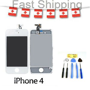Compatible iphone 4 white replacement lcd touch screen digitizer glass