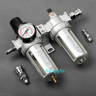 Air Compressor Line Lubricator Oil Moisture Water Trap Filter Regulator Mount