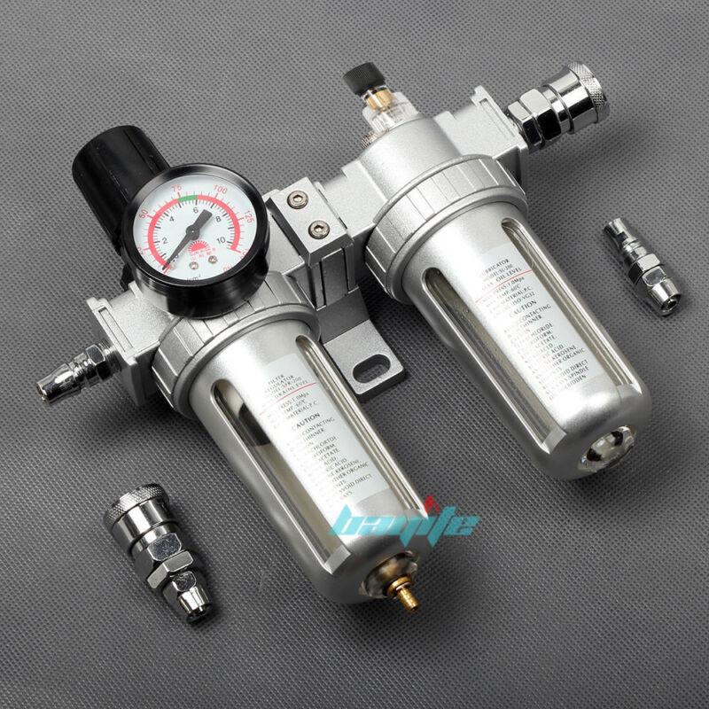 Air Compressor Line Lubricator Oil Moisture Water Trap Filter Regulator Mount